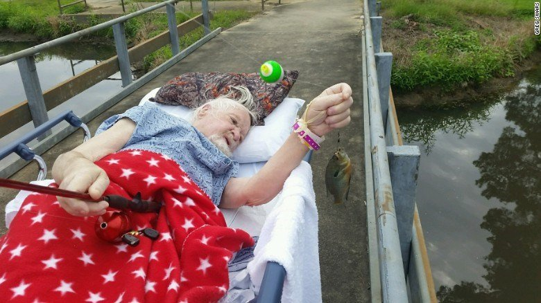 Veteran fulfills dying wish: to catch one last fish