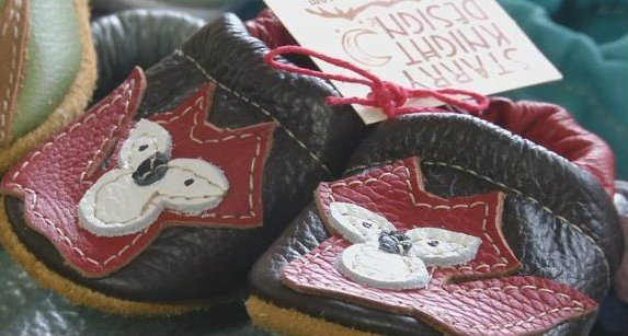 """Starry Knight started evolving in 2008 when Knight began experimenting with designs, eventually coming up with a pattern for her """"Baby Moccs."""" (MTN News photo)"""