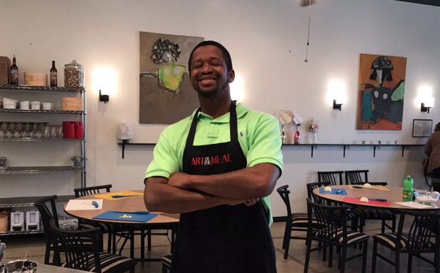 Victor Hubbard began working full time at Ginger Sprouse's business, Art of the Meal. THIS IS VICTOR/FACEBOOK