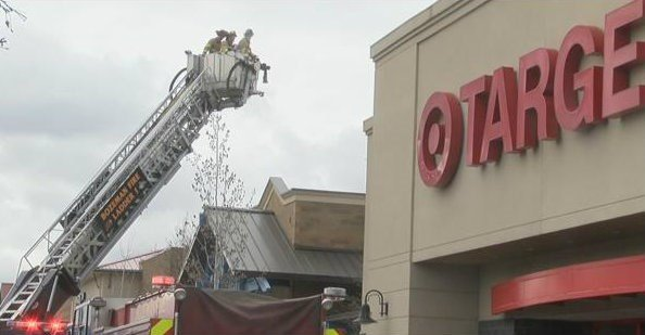 Mid-day fire at Target (MTN News photo)