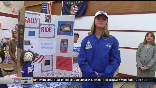 Sally Ride giving lessons in Butte (MTN News photo)