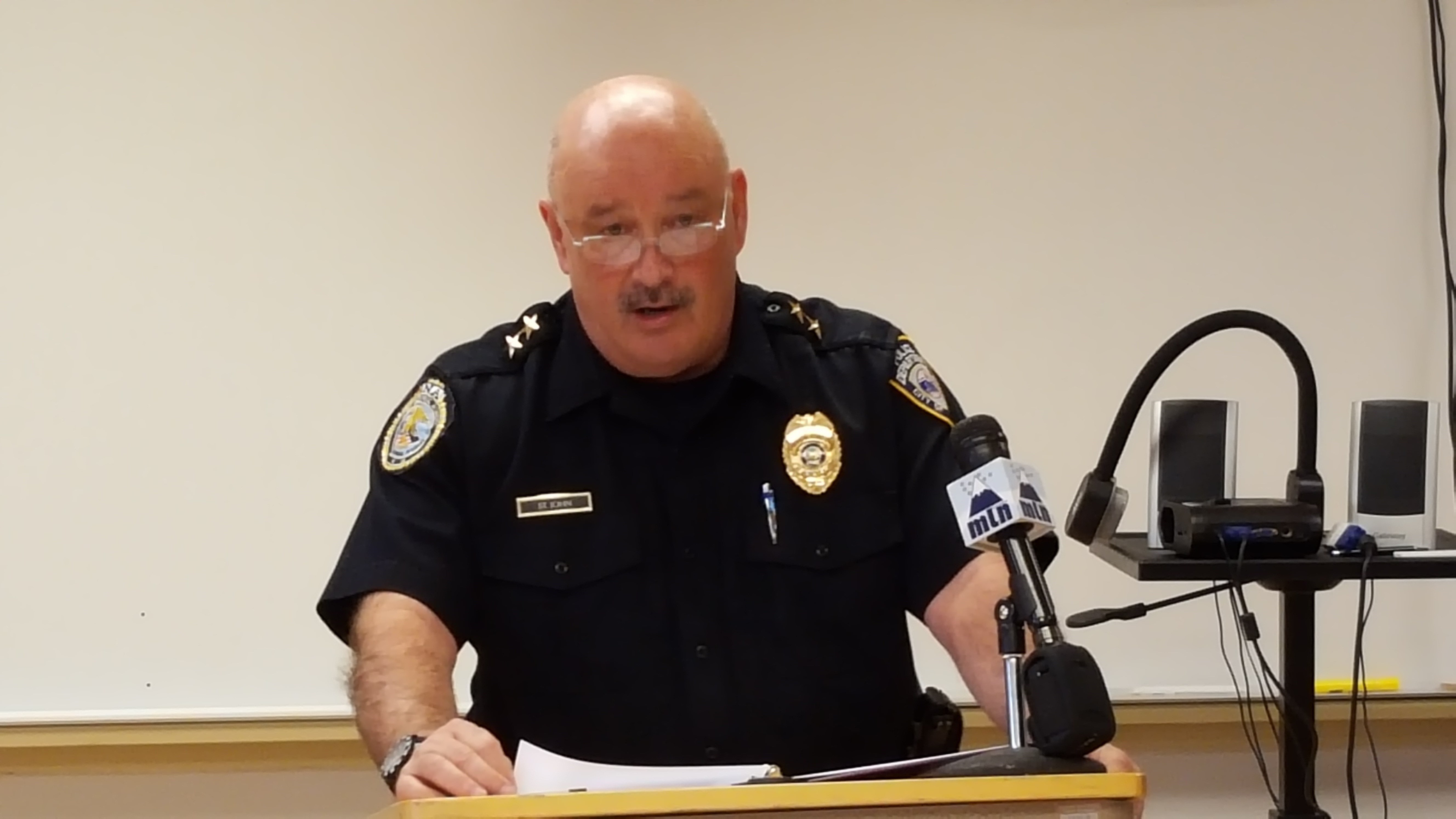Chief St. John addressed simialr unsubstantiated rumors at a press conference last week. (MTN News)