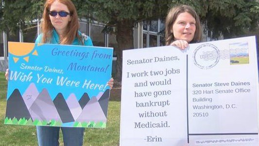 Many in attendance also wanted to send a message to both Senator Steve Daines  and Senator Jon Tester by standing together. (MTN News photo)