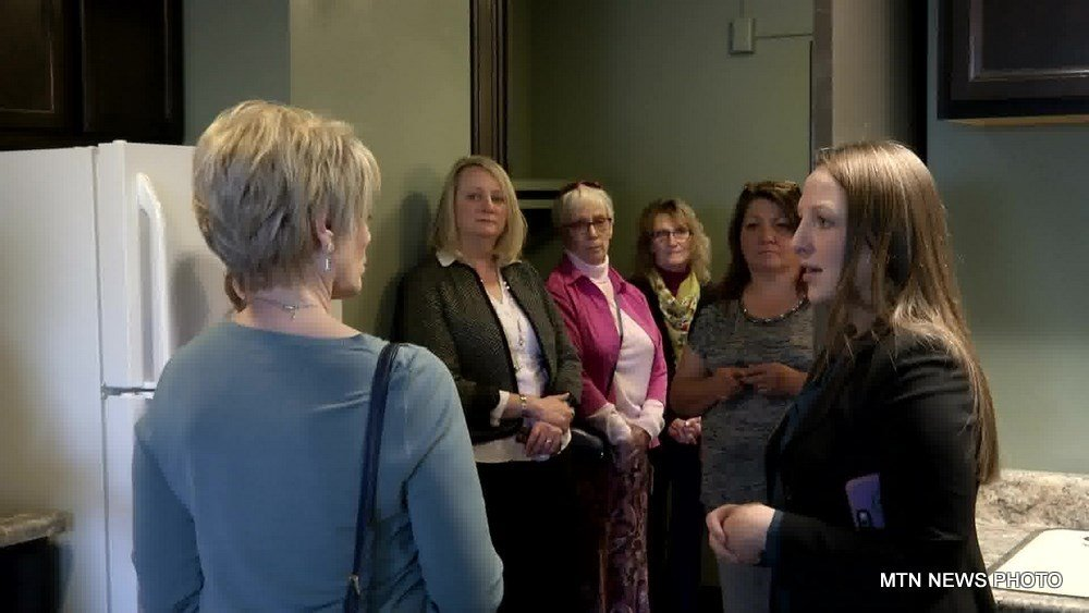 On Tuesday, Montana Department of Commerce director Pam Haxby-Cote toured the apartments.