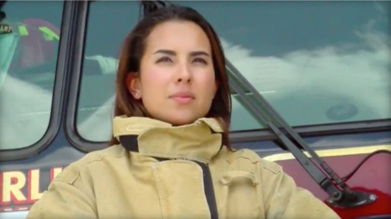 Bree Rios became the first female firefighter for the Harlingen Fire Department in Texas on April 12. KGBT-TV