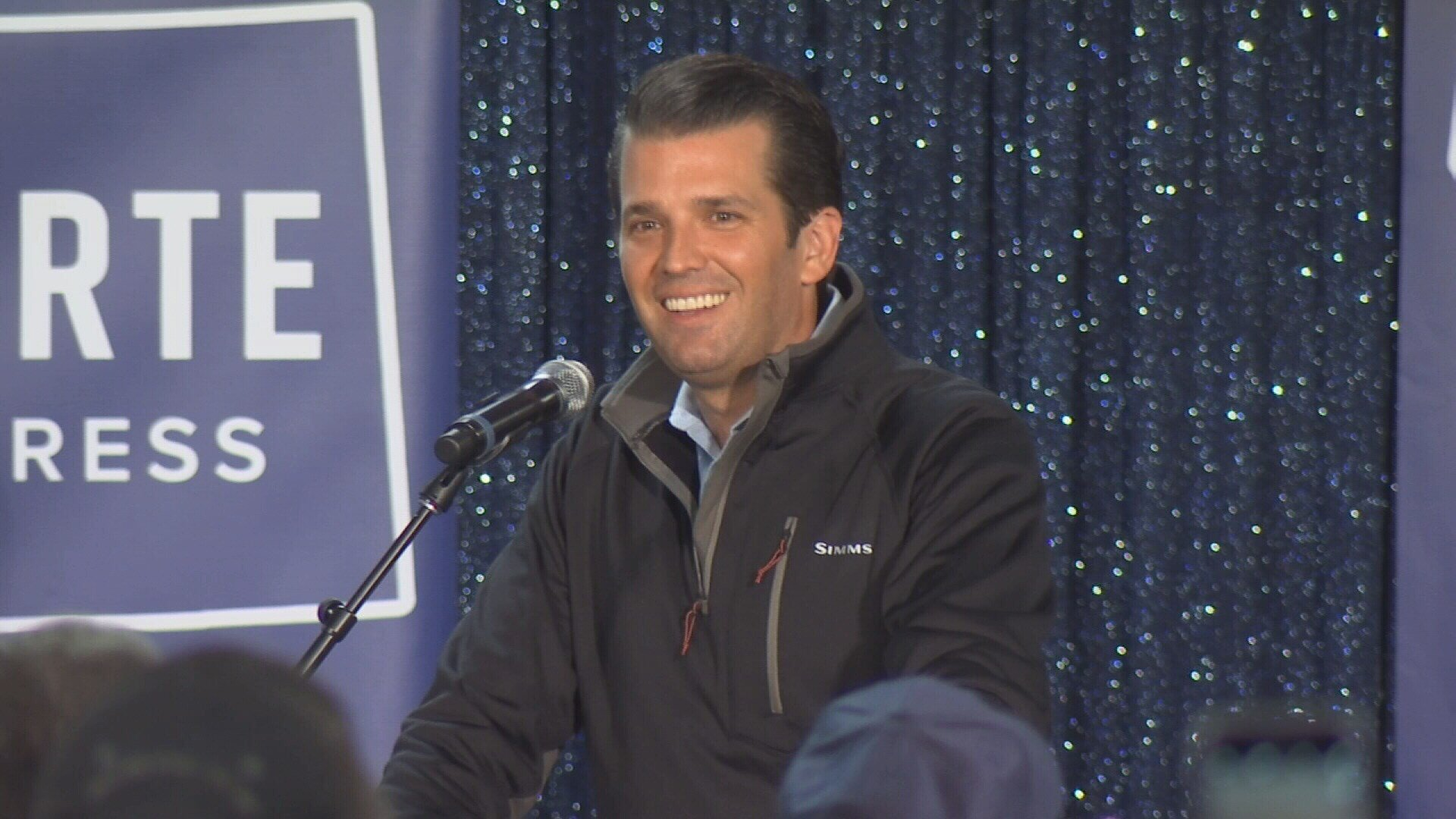 Donald Trump Jr. at rally for Greg Gianforte on Friday.