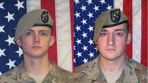 Sgt. Joshua P. Rodgers, 22, and Sgt. Cameron H. Thomas, 23, were killed in action in Afghanistan on April 27, 2017 DEFENSE DEPARTMENT