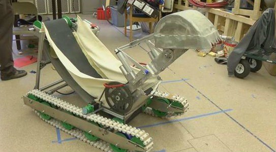 Mining on Mars with this Montana Tech robot (MTN News photo)
