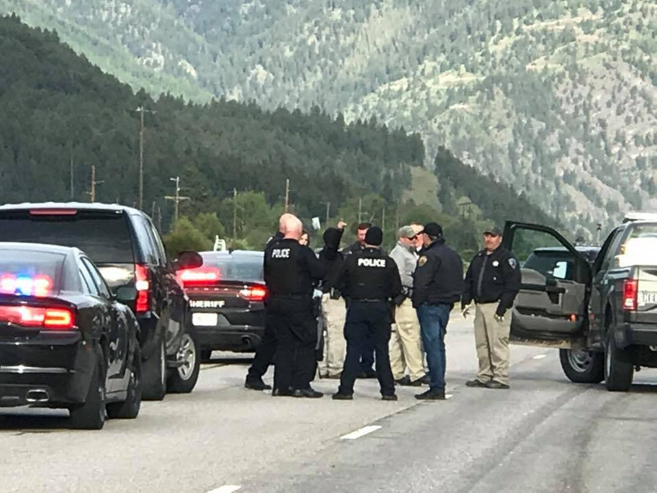 One suspect was shot in the head and the other in the hand after opening fire on officers near the Rock Creek exit. (MTN News photo)