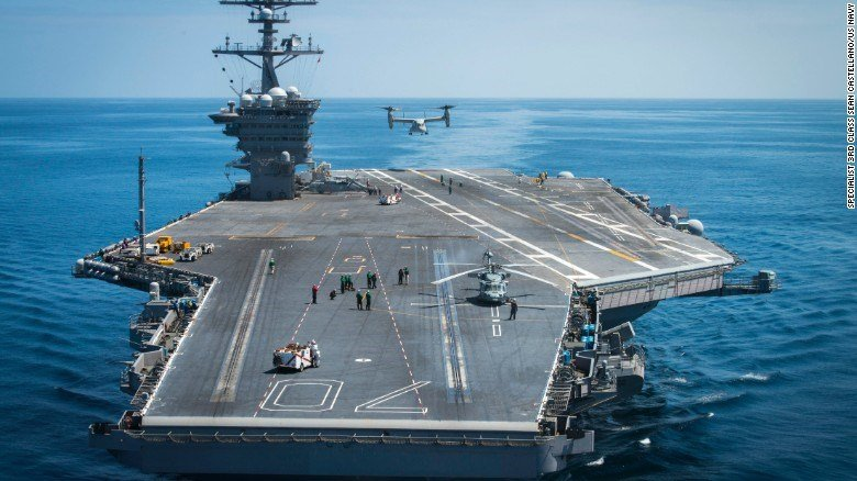 US Navy moves second aircraft carrier near Pyongyang
