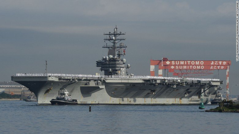 US Navy deploys second aircraft carrier to North Korea's doorstep