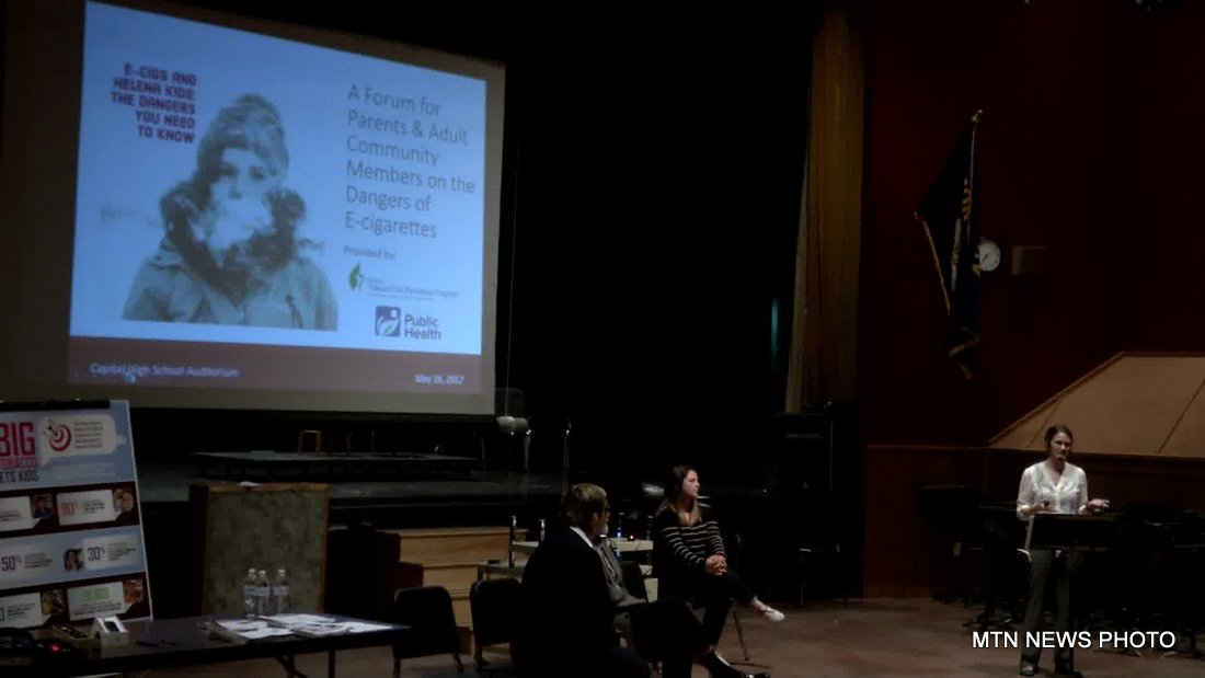 The Montana Tobacco Use Prevention Program and Lewis & Clark Public Health held a community forum on youth e-cigarette use