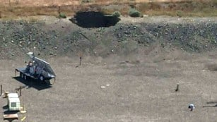 A tunnel at Washington's Hanford nuclear site collapsed on May 9, creating a 20-foot hole. (CNN photo)