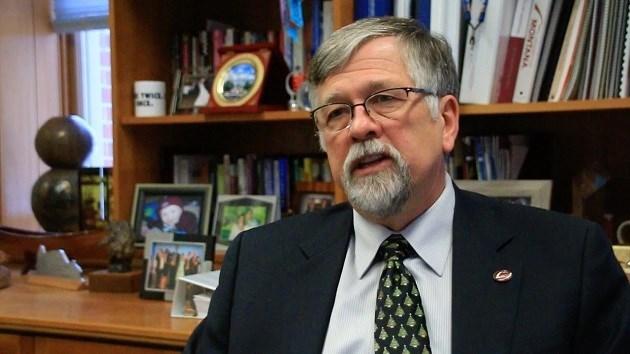 Former University of Montana President Royce Engstrom (MTN News photo/Dennis Bragg)