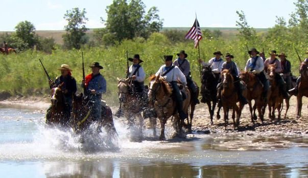 A reenactment of Gen. Custer's ride into the Battle of the Little Bighorn - and into history. (CBS News photo)
