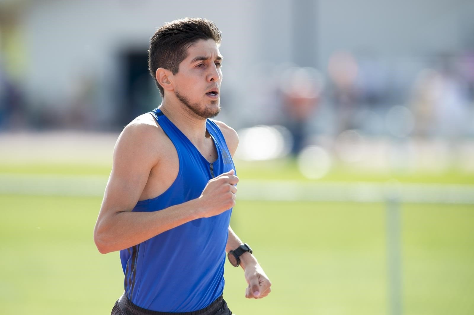 Montana State All-American Cristian Soratos crosses the line fifth in the 1,500m at the USA Outdoor Track and Field Championships