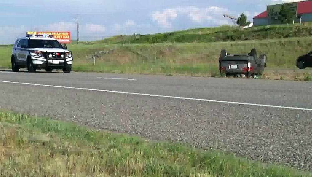 The crash happened at about 5:40 p.m. on Friday on 1-90 at mile marker 282 near Logan.