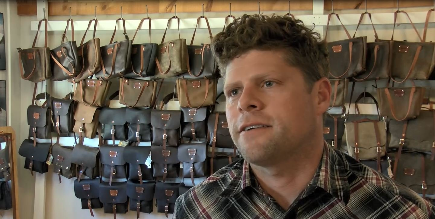 Goertzen Adventure Equipment owner Joe Goertzen inside his Missoula shop. (MTN News photo)