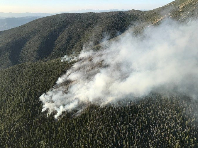 The Lolo Peak fire was first spotted on July 17. (Lolo National Forest photo)