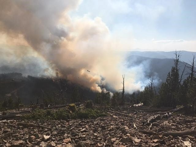Two fires southeast of Missoula have now burned over 1,000 acres. (courtesy photo)
