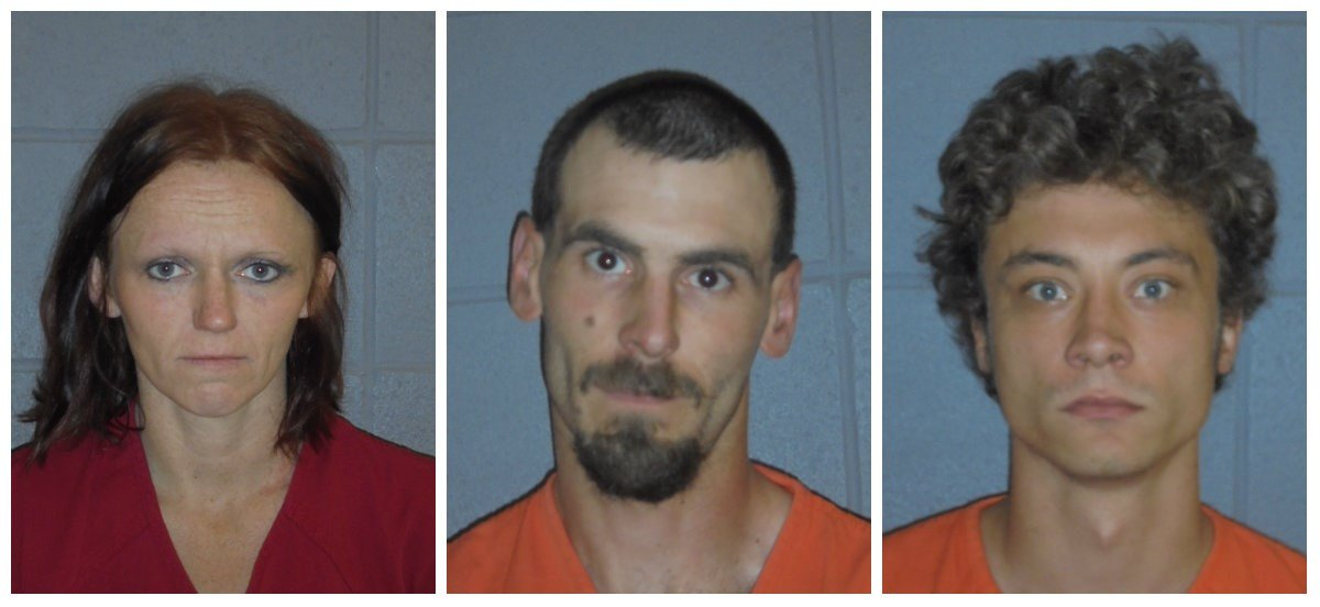 Christopher Hansen (center) and David Toman (right) were sentenced in connection with the murder of Wade Allen Rautio.
