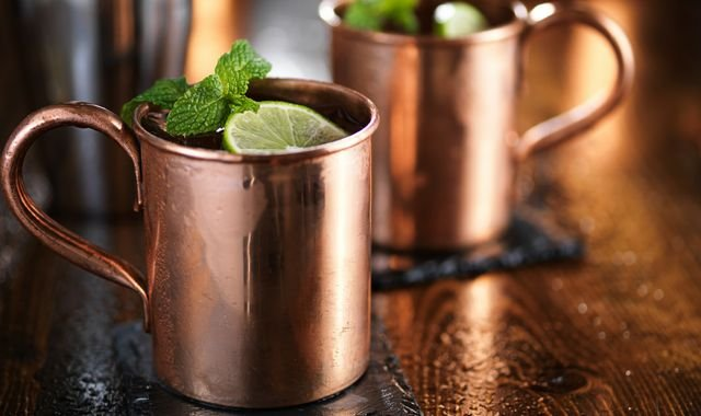 Copper mugs and cocktails may not be a healthy mix