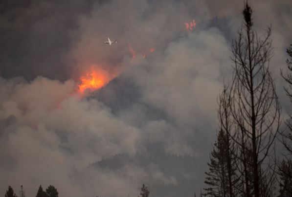 Pre-evacuation orders remain effect along Highway 83 in Seeley Lake. (inciweb.org photo)
