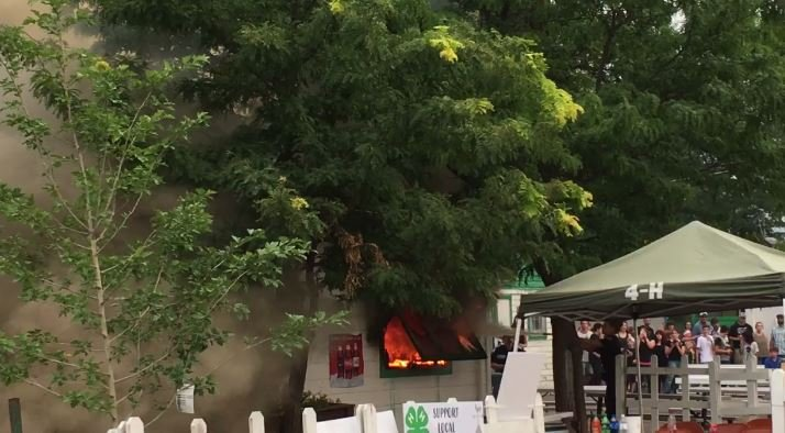 The fire broke out in the 4-H Cafe at the fairgrounds. (MTN News/Mark Thorsell photo)