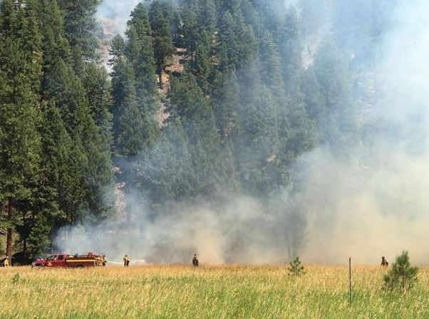 Evacuation and pre-evacuation notices remain in effect near the Sapphire Complex fire. (inciweb.org photo)