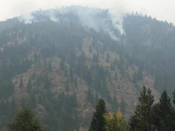 The Sunrise fire is burning 11 miles southeast of Superior. (inciweb.org photo)