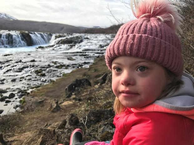 Agusta, age 7. On average, Iceland has two people with Down syndrome born each year. CBS NEWS