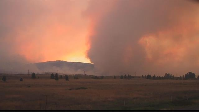 The lightning sparked Lolo Peak fire is now burning between Lolo and Florence. (MTN News photo)