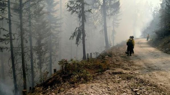 The Rice Ridge fire continues to burn north and east of Seeley Lake. (inciweb.org photo)
