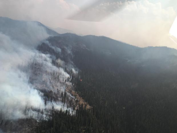 Strawberry Creek Fire (Photo via Inciweb)