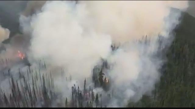 The Rice Ridge fire is burning north of Seeley Lake in Missoula and Powell counties. (MTN News photo)