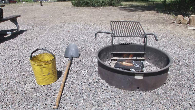 All campfires are still banned due to fire danger.