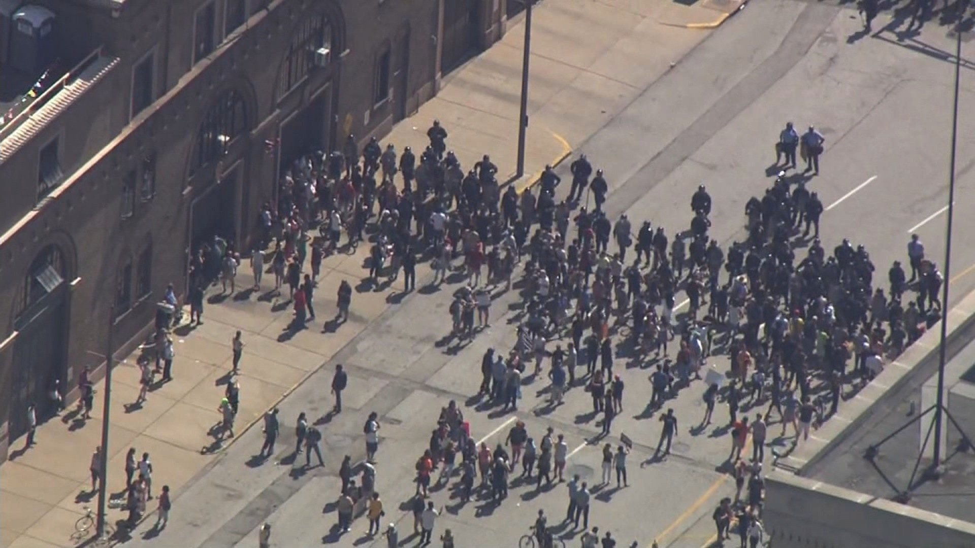 Crowds gathered in the Central West End Friday night to continue protesting the verdict in the Jason Stockley case. (KMOV)