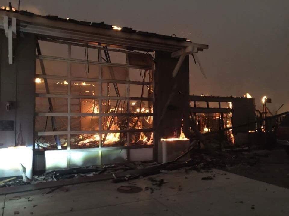 Fire Station 5 in Santa Rosa, California, burned down Sunday, Oct. 8, 2017. photo by Nancy Gallagher Cortesi. courtesy of CNN.