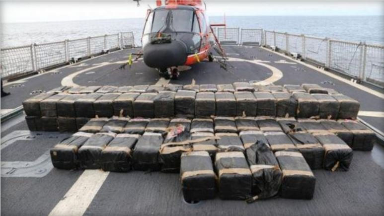 Cocaine and heroin seized by the Coast Guard was offloaded in Port Everglades, Florida. CBS MIAMI