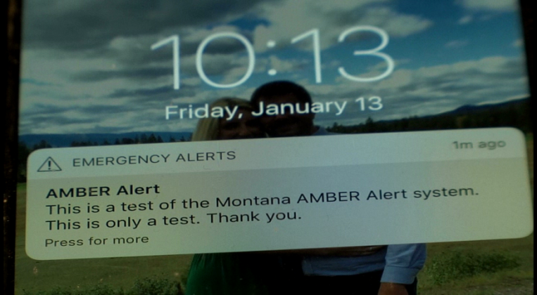 The Montana Department of Justice conducted a state-wide test of its AMBER Alert System on Friday.