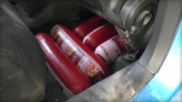 U.S. Customs and Border Protection officers seized 227 pounds of Mexican bologna on Nov. 30, 2017. / CPB