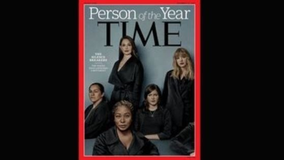 """Time magazine has named """"The Silence Breakers,"""" representing people who came forward to report sexual misconduct, as its 2017Person of the Year. (Time Magazine)"""