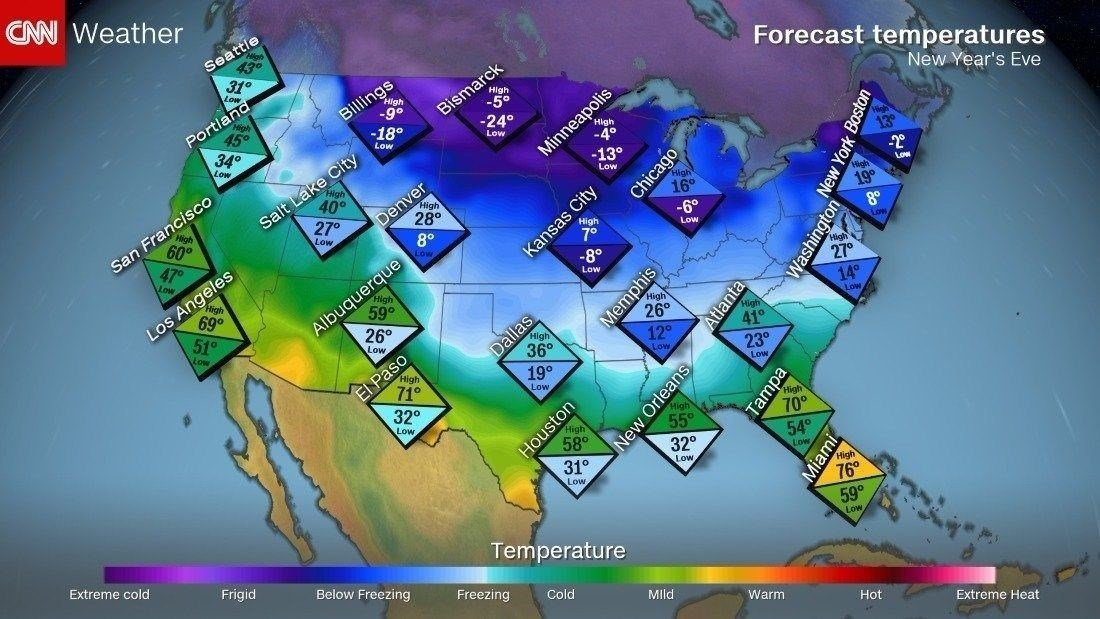 Cold weather ahead includes wind chill in single digits