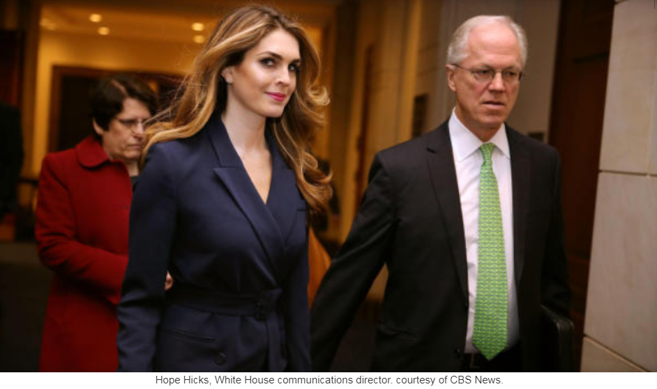 Donald Trump's communications chief Hope Hicks 'resigning'