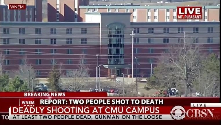 2 shot at Central Michigan University, gunman still at large