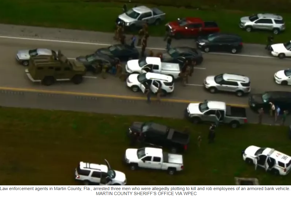 Cops foil elaborate armored truck heist with dramatic highway showdown
