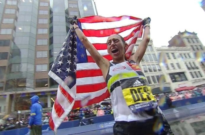 Home hopes high for historic U.S.  marker in Boston Marathon