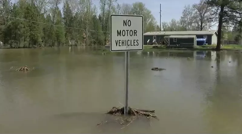 Drone Gives Bird's Eye View of Montana Flooding