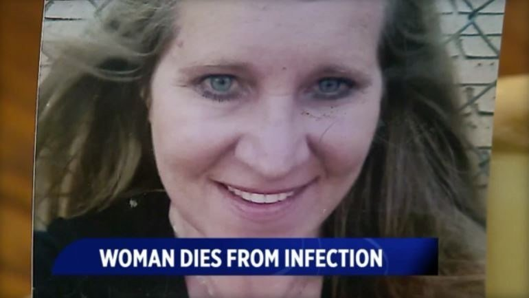 What started as a small bump grew into a large, painful and deadly infection, Carol Martin's family says. / WTTV