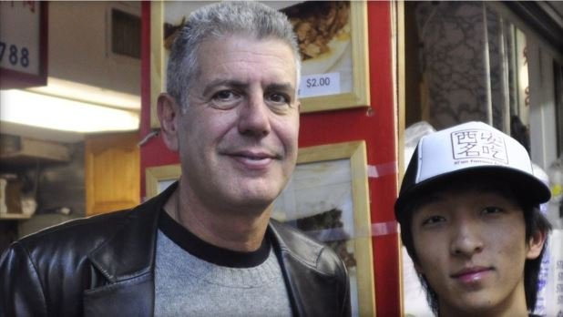 Jason Wang, the CEO of New York City's Xi'an Famous Foods, says Anthony Bourdain helped his family live the American dream and he is now paying it forward for suicide prevention  JASON WANG/XI'AN FAMOUS FOODS